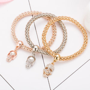 Charm Bracelets 3 PCS Bangle Skull Bracelet - DiyosWorld