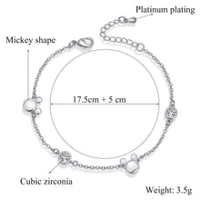 Load image into Gallery viewer, ERLUER fashion bracelets for women charm Crystal Zircon Mickey jewellery Girl adjustable rose gold bracelet Wedding jewelry gift