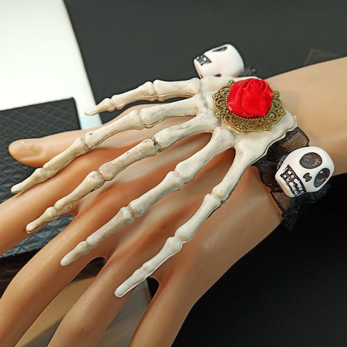 Creepy Skull Ghost Claw Bracelet