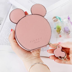 Coin Purses Cute Mini Leather Clutch Pink - DiyosWorld