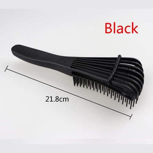 Combs Ultra Smooth Detangling Hair Brush 1pc black color - DiyosWorld