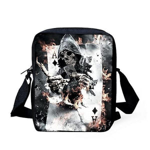 Crossbody Bags Punk Skull Head Cross body Travel Shoulder bag Ace - DiyosWorld