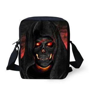 Crossbody Bags Punk Skull Head Cross body Travel Shoulder bag Orange - DiyosWorld