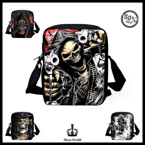Crossbody Bags - Punk Skull Head Cross Body Travel Shoulder Bag (Now 70% Discount Till The Stocks Lasts)