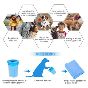 Foot Clean Cup For Dogs Cats