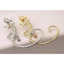 Load image into Gallery viewer, Earring - Rhinestone Ear Cuff  Gekkonidae Lizard  Stud Earring - For One Ear