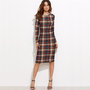 Elegant Bodycon Autumn Dress - DiyosWorld