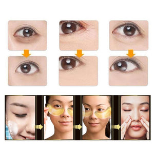 Gold Crystal Collagen Eye Patches Anti-Wrinkle Remover 20pc
