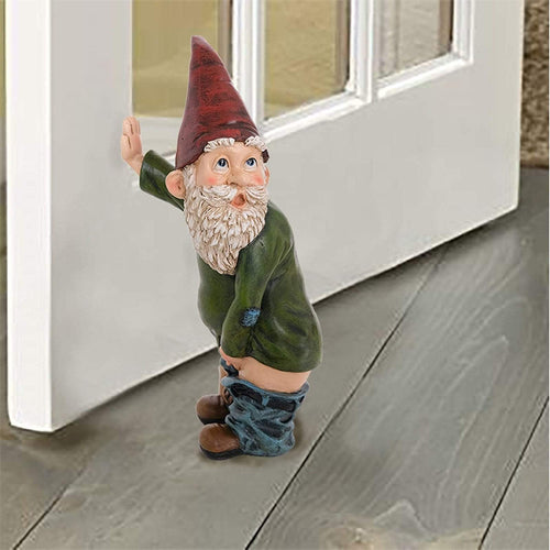 Figurines & Miniatures Handmade Naughty Gnome Decoration - DiyosWorld