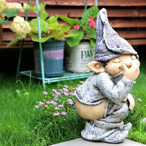 Figurines & Miniatures Handmade Cute Garden Gnome Decoration - DiyosWorld