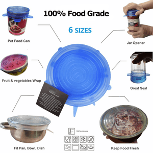Food Covers STRETCH & SEAL Silicone Lids - DiyosWorld
