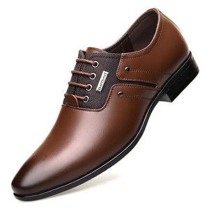 Formal Shoes Lace-up Men Business Oxford Shoes Brown / 6 - DiyosWorld