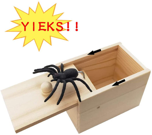 Gags & Practical Jokes Prank Spider Scare Box White Box Spider - DiyosWorld