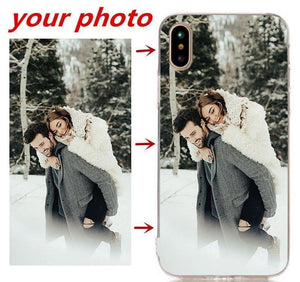 Half-wrapped Case Personalized Custom Print Photo Phone Cases For iPhone - DiyosWorld