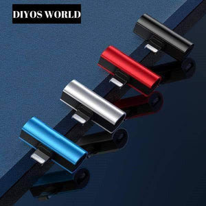 Home DIYOS™ 2 in 1 Adapter iPhone BLACK - DiyosWorld