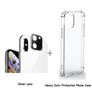 Home Lens (Change to iPhone 11) Silver / iPhone X or XS / With Case - DiyosWorld