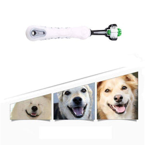 Home Three Sided Pet Toothbrush - DiyosWorld