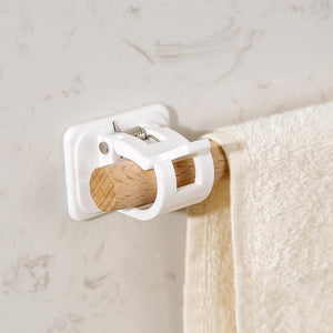 Hooks & Rails Nail free Adjustable Curtain Rod Holders - DiyosWorld