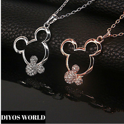 Jewelry Sets Platinum Plated Necklace & Drop Earrings Set Platinum Plated / Necklace Only - DiyosWorld