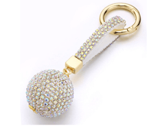 Load image into Gallery viewer, Luxury Crystal Cartoon Key Holder
