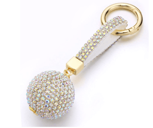 Key Chains Luxury Crystal Cartoon Key Holder Ball / Silver / Without Bow - DiyosWorld