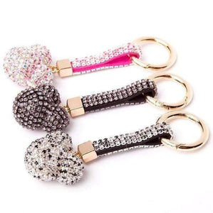 Key Chains Luxury Crystal Cartoon Key Holder Mickey / Pink / Without Bow - DiyosWorld