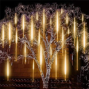 LED String Decorative Snowfall LED Lights WARM WHITE (48 LIGHT WICKS) / EU Plug - DiyosWorld