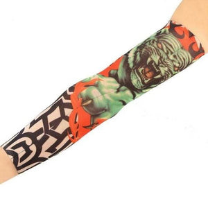 Men's Arm Warmers UV Protection Cool Tattoo Sleeve Tiger Sleeve Tattoo - DiyosWorld
