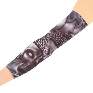 Men's Arm Warmers UV Protection Cool Tattoo Sleeve Buddha Sleeve Tattoo - DiyosWorld