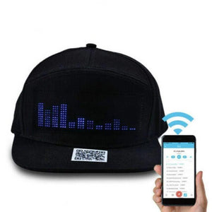 Men's Baseball Caps DIYOS™ LED Message Hat BLACK HAT & COLOURFUL LIGHT - DiyosWorld