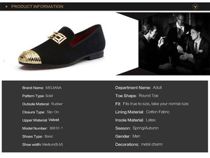 Men's Casual Shoes Gold Plated Designer Shoes - DiyosWorld