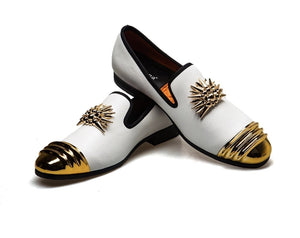 Luxury Designer 18K Gold Plated Metal Top Shoes