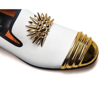 Load image into Gallery viewer, Luxury Designer 18K Gold Plated Metal Top Shoes