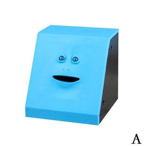 Money Boxes Face-Bank Money Eating Box Blue - DiyosWorld