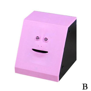 Money Boxes Face-Bank Money Eating Box Pink - DiyosWorld