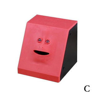 Money Boxes Face-Bank Money Eating Box Red - DiyosWorld