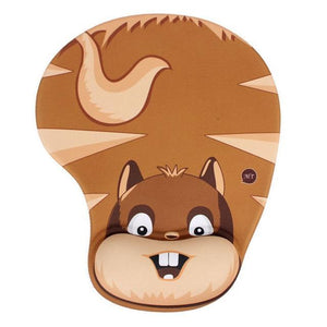 Mouse Pads DIYOS™ Cute Ergonomic Mouse Pad NAUGHTY SQUIRREL - DiyosWorld