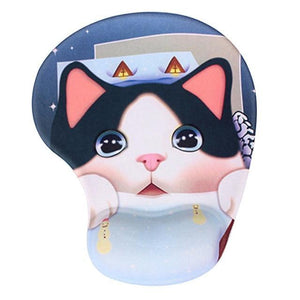 Mouse Pads DIYOS™ Cute Ergonomic Mouse Pad SURPRIZED KITTY - DiyosWorld