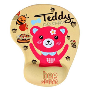 Mouse Pads DIYOS™ Cute Ergonomic Mouse Pad TEDDY BUDDY - DiyosWorld
