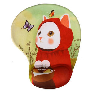 Mouse Pads DIYOS™ Cute Ergonomic Mouse Pad CURIOUS KITTY - DiyosWorld