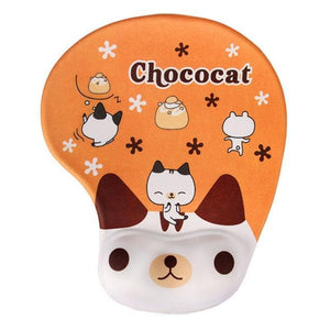Mouse Pads DIYOS™ Cute Ergonomic Mouse Pad CUTE CHOCOCAT - DiyosWorld