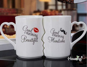 Mugs 2Pcs/Set Couple Kiss Mug - DiyosWorld