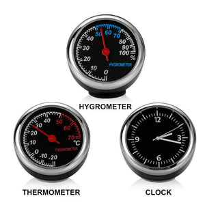 Ornaments Car Clock Thermometer & Hygrometer - DiyosWorld