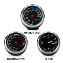 Load image into Gallery viewer, Car Clock Thermometer & Hygrometer