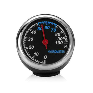 Ornaments Car Clock Thermometer & Hygrometer Hygrometer - DiyosWorld