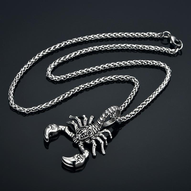 Pendant Necklaces Unique Punk Scorpion Pendant Necklace 50cm / Silver - DiyosWorld