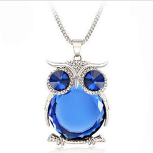 Pendant Necklaces Owl Necklace Blue - DiyosWorld