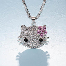 Load image into Gallery viewer, Cute Rhinestone Studded Long Pendant Necklace