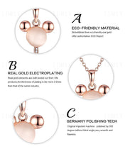 Load image into Gallery viewer, Key Shape Rose Gold Plated Chain Necklace