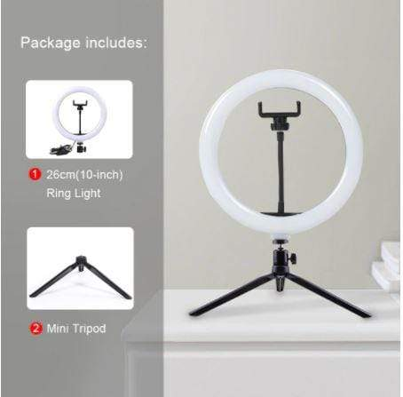 Photographic Lighting Selfie Pro™ Ring Light Kit MINI TRIPOD + 10 INCH RING LIGHT - DiyosWorld